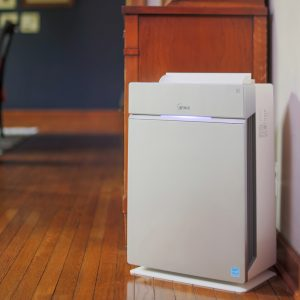 The Winix HR1000 is a 5-Stage Air Purifier that covers 400sq. ft. - True HEPA Filtration, PlasmaWave® Technology, and compatible with the WINIX SMART app.
