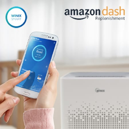 Am90 Wifi Enabled Air Purifier with Amazon Dash Filter Replacement