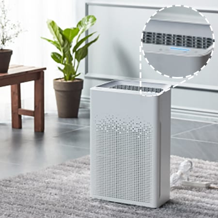 AM90 Air Purifier Air Quality Display LED Light