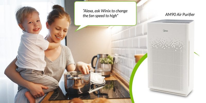 Am90 WiFi Enabled Air Purifier with Just Ask Alexa Voice Control and Winix Smart App