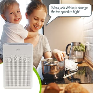 Am90 WiFi Enabled Air Purifier with Just Ask Alexa Voice Control
